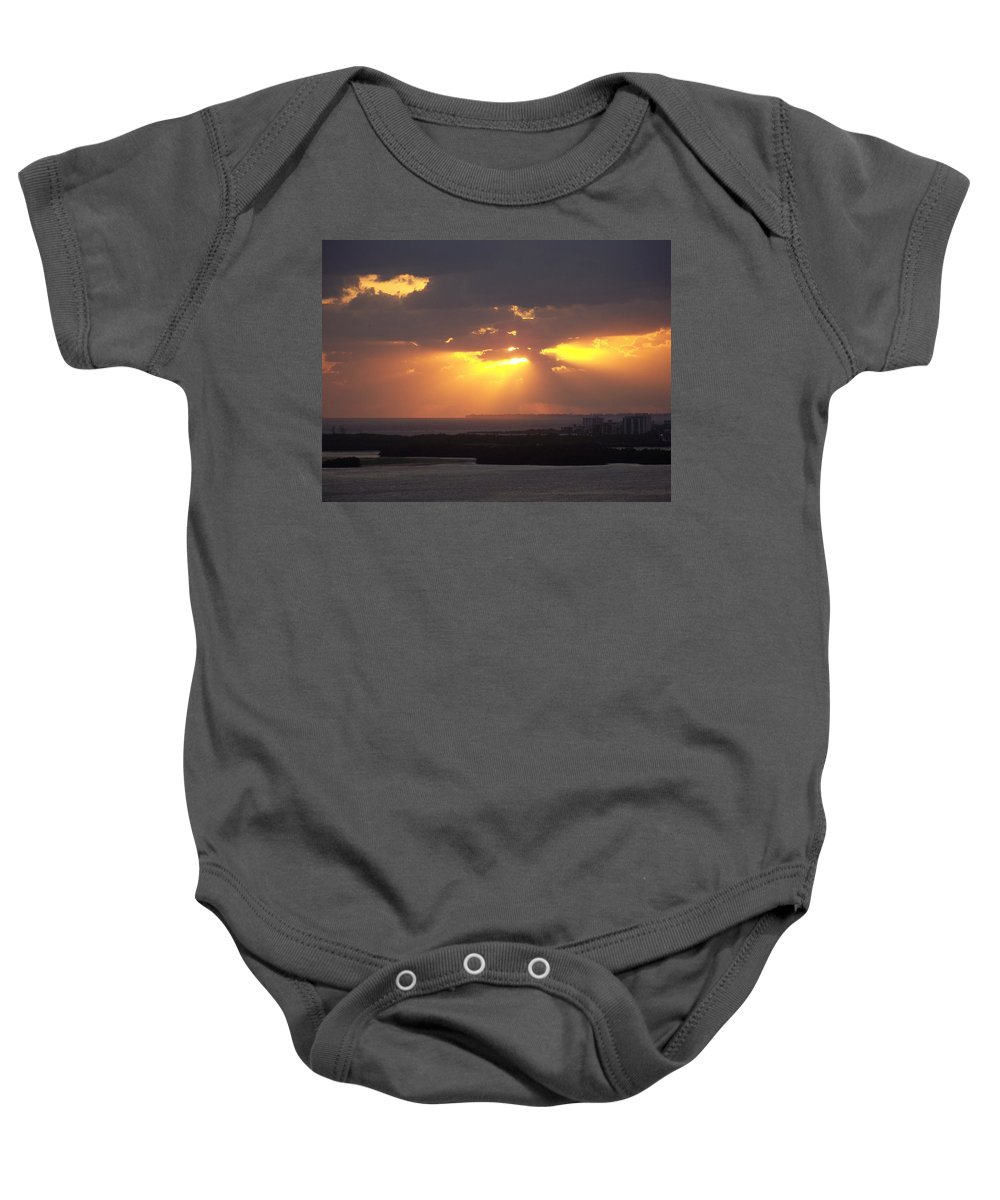 Sunset Baby Onesie featuring the photograph Sunset 0047 by Laurie Paci