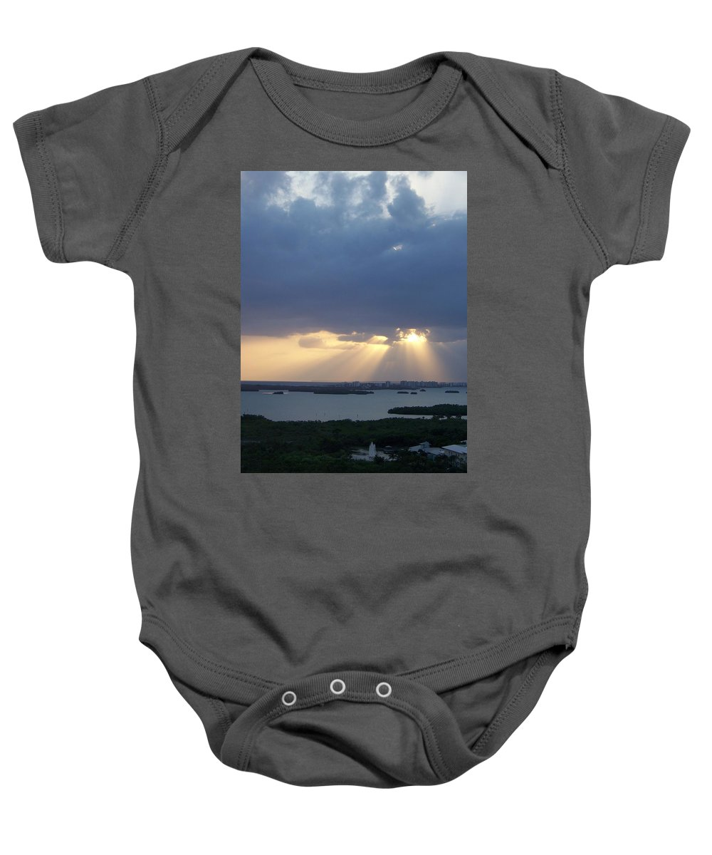 Sunset Baby Onesie featuring the photograph Sunset 0048 by Laurie Paci
