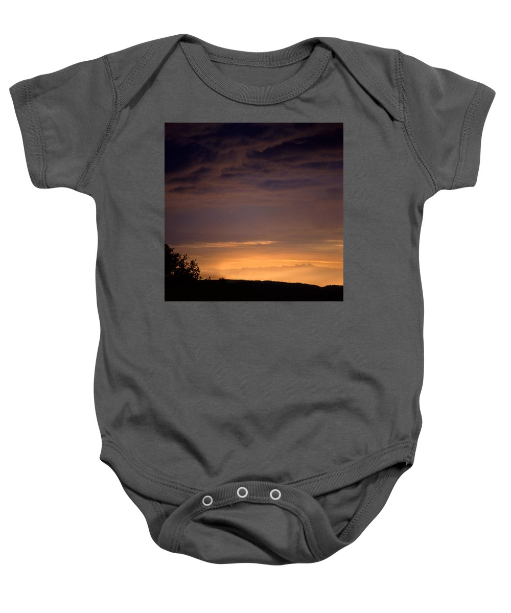 Landscape Baby Onesie featuring the photograph Sunset 3 by Lee Santa