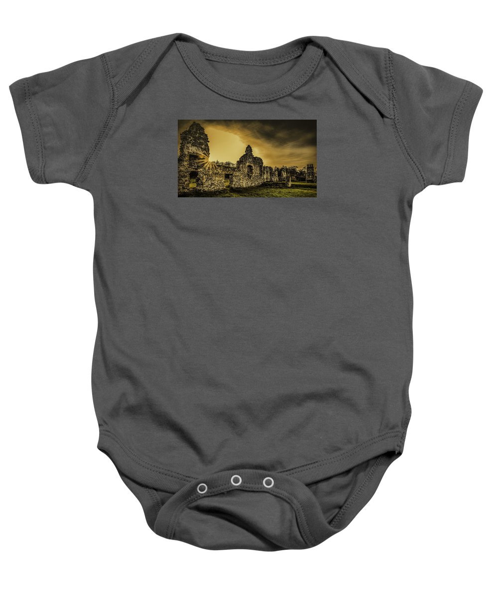 Gracedieu Baby Onesie featuring the photograph Sunset At Grace Dieu by Nick Bywater