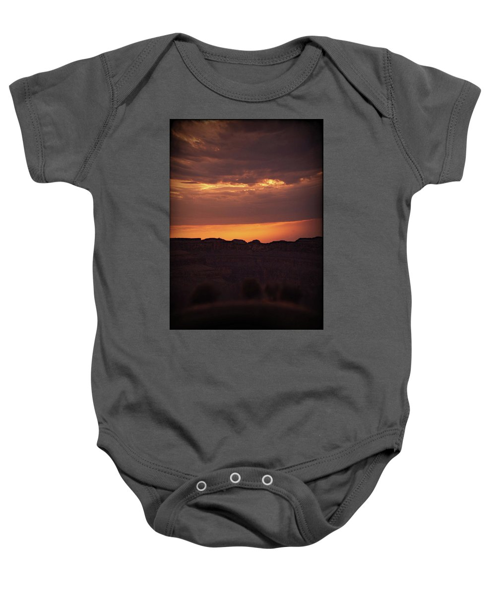 Sunset Baby Onesie featuring the photograph Sunset At Grand Canyon by Art Spectrum