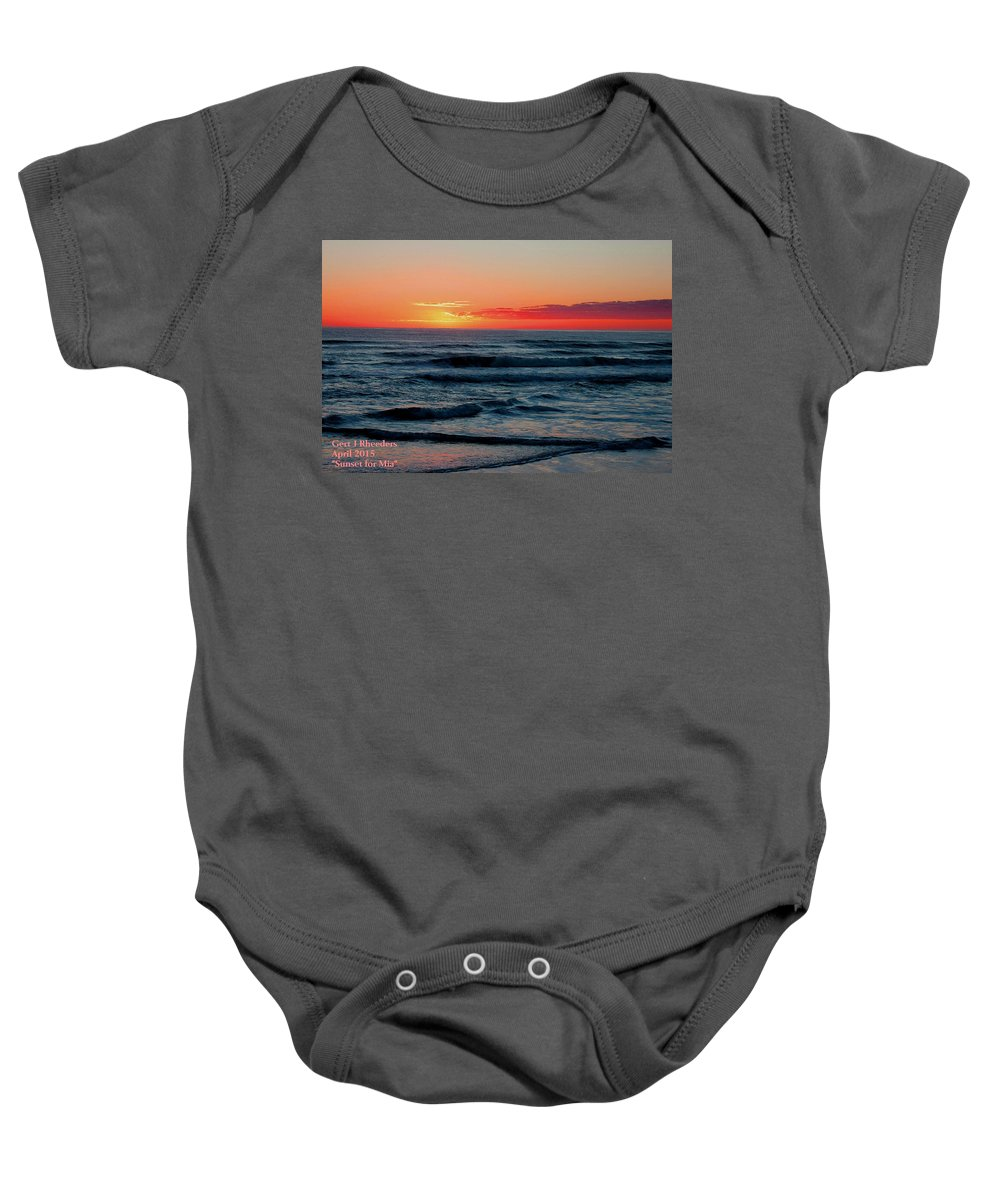 Announcement Baby Onesie featuring the painting Sunset For Mia H A by Gert J Rheeders