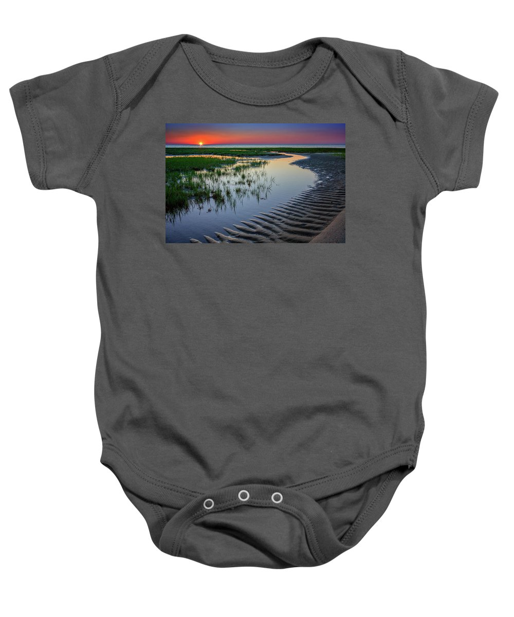 Cape Cod Baby Onesie featuring the photograph Sunset On Cape Cod by Rick Berk