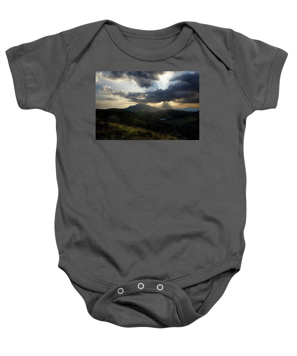 Indian Springs Baby Onesie featuring the photograph Sunset over Indian Springs by Roy Nierdieck