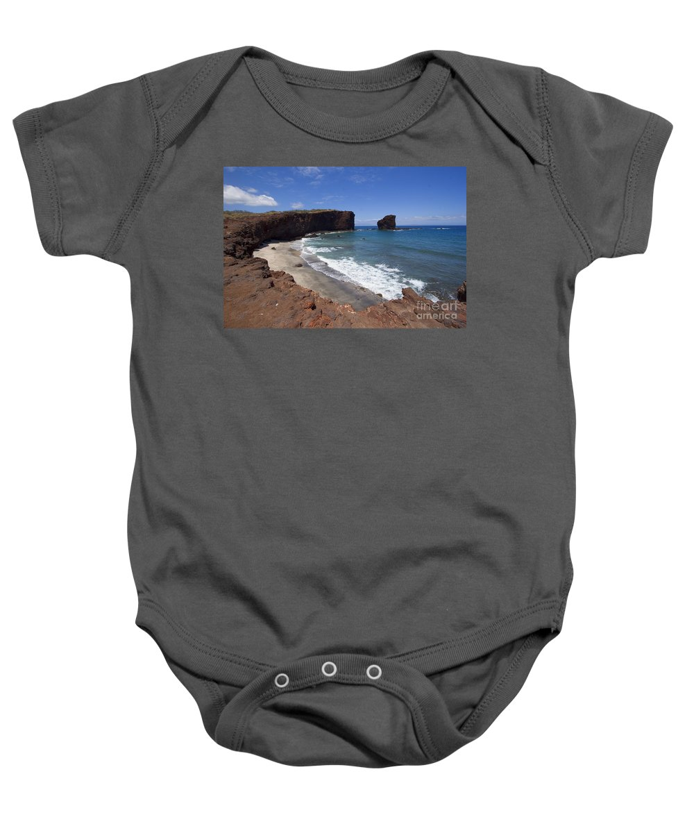 Beach Baby Onesie featuring the photograph Sweetheart Rock by Ron Dahlquist - Printscapes