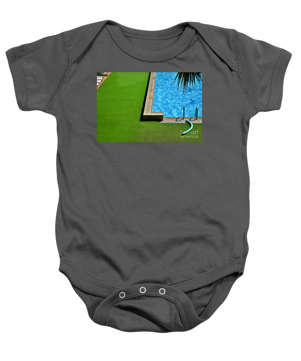 Swimming Pool Baby Onesie featuring the photograph Swimming Pool by Silvia Ganora