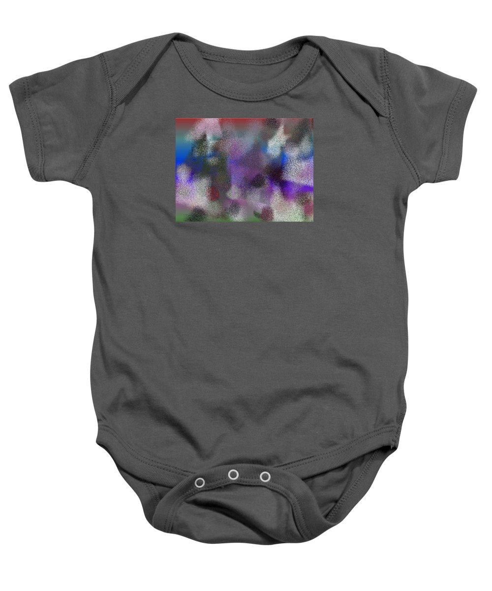 Abstract Baby Onesie featuring the digital art T.1.1001.63.4x3.5120x3840 by Gareth Lewis