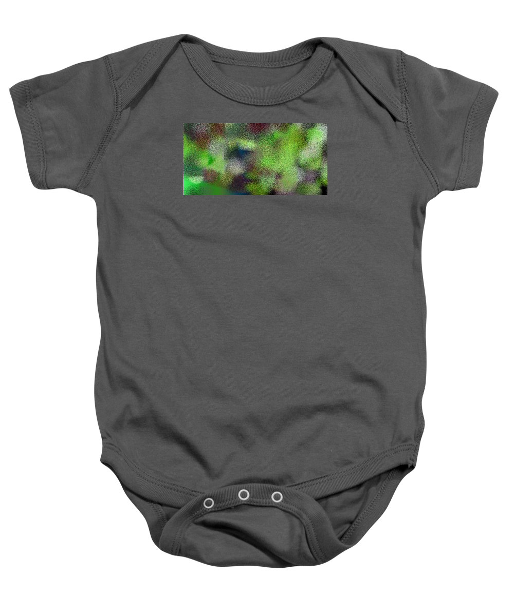 Abstract Baby Onesie featuring the digital art T.1.1091.69.2x1.5120x2560 by Gareth Lewis