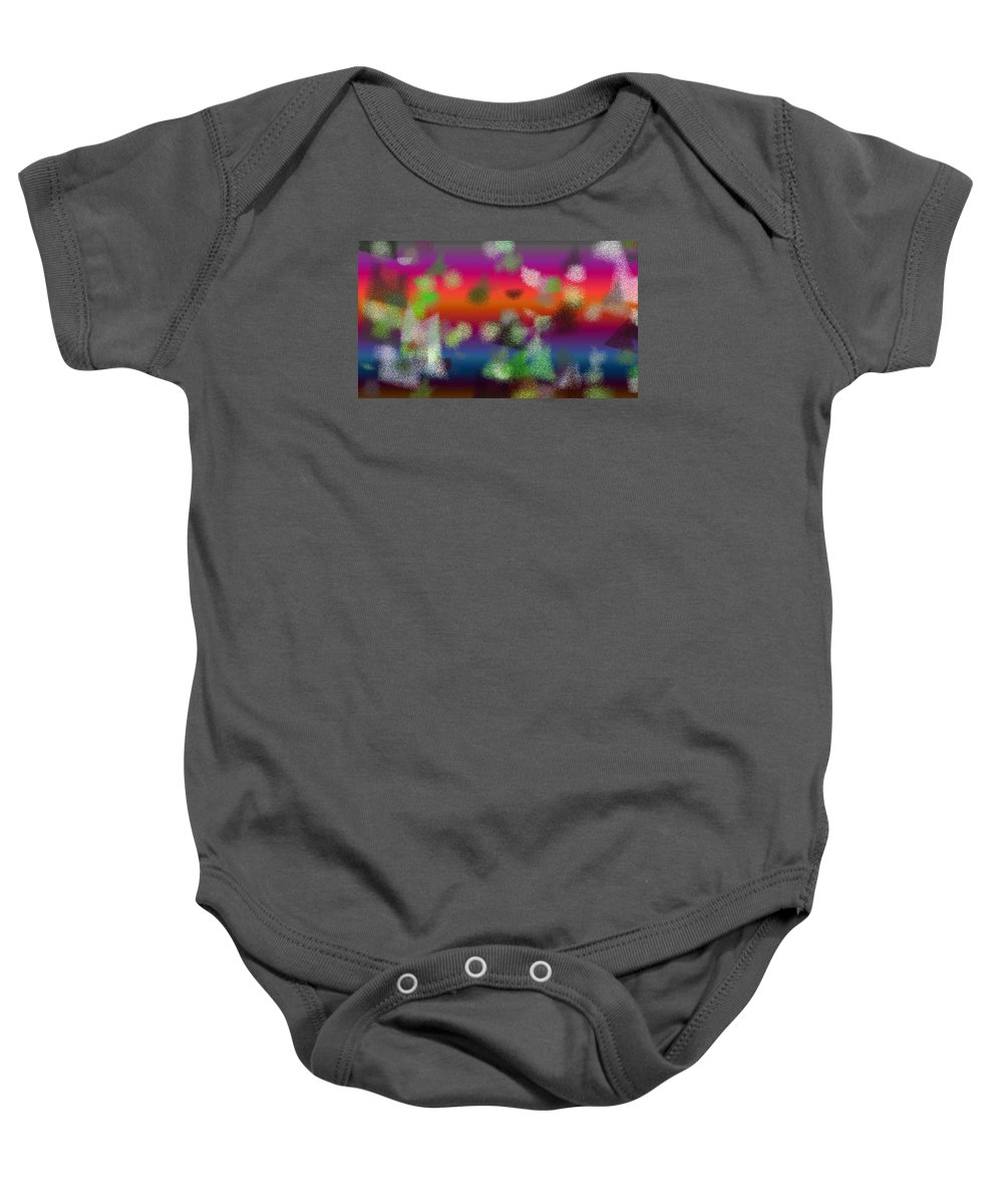 Abstract Baby Onesie featuring the digital art T.1.1104.69.16x9.9102x5120 by Gareth Lewis