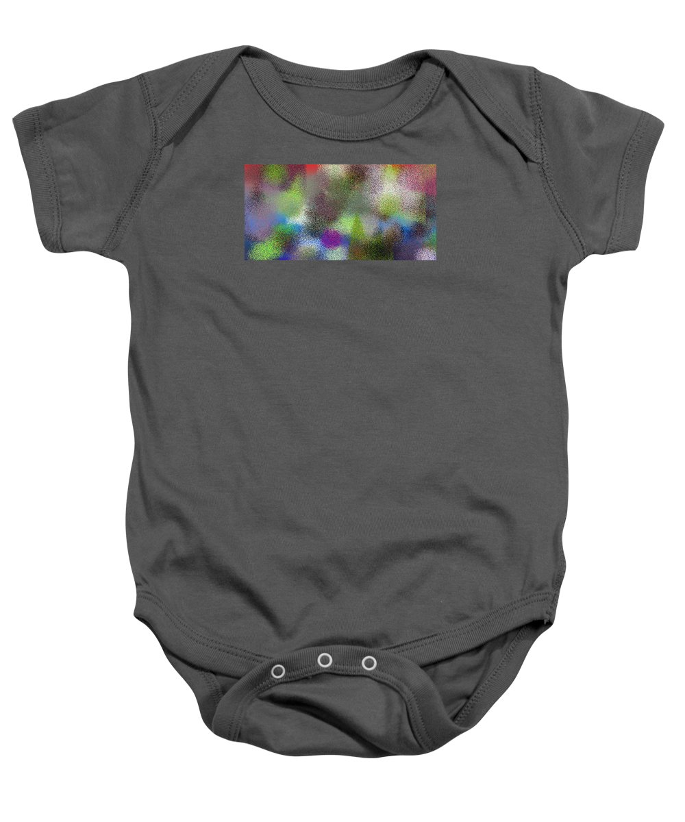 Abstract Baby Onesie featuring the digital art T.1.899.57.2x1.5120x2560 by Gareth Lewis
