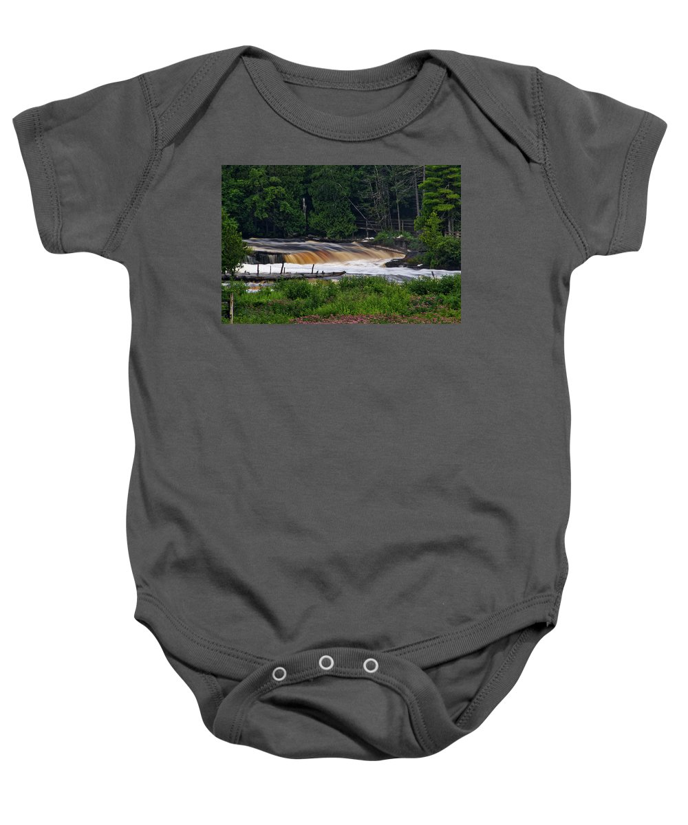 Tahquamenon Falls State Park Baby Onesie featuring the photograph Tahquamenon Lower Falls Upper Peninsula Michigan 04 by Thomas Woolworth