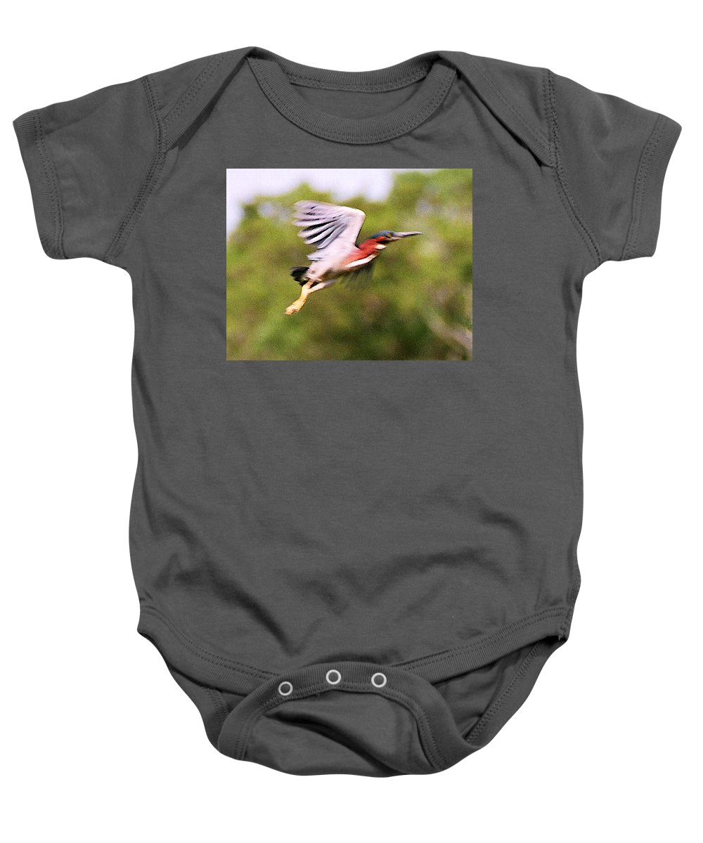 Wild Life Baby Onesie featuring the digital art Take Off by Steve Karol