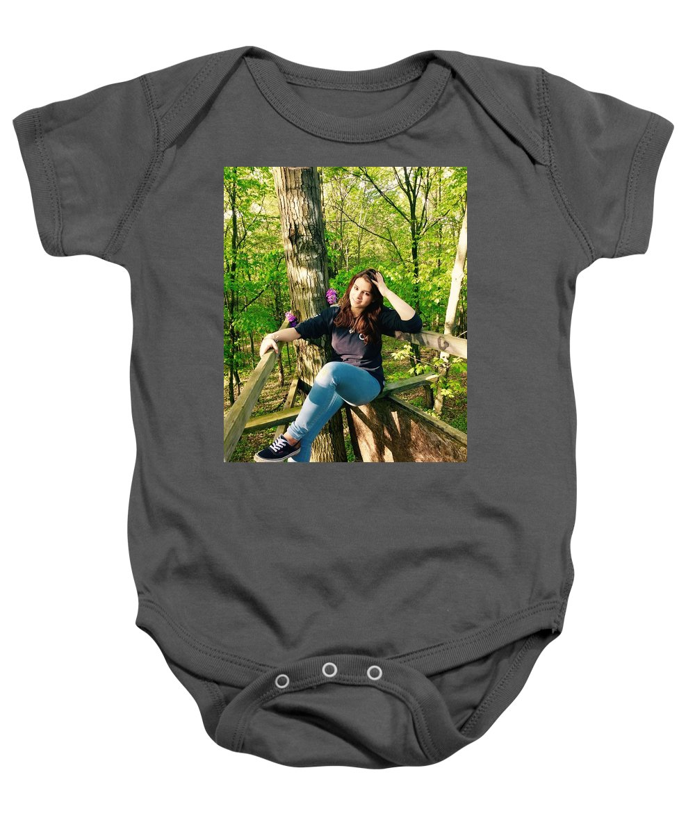 Outside Baby Onesie featuring the photograph Taking A Break by Christin Rivas