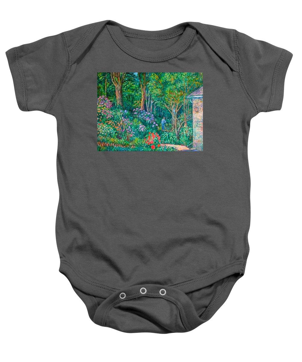 Suburban Paintings Baby Onesie featuring the painting Taking A Break by Kendall Kessler