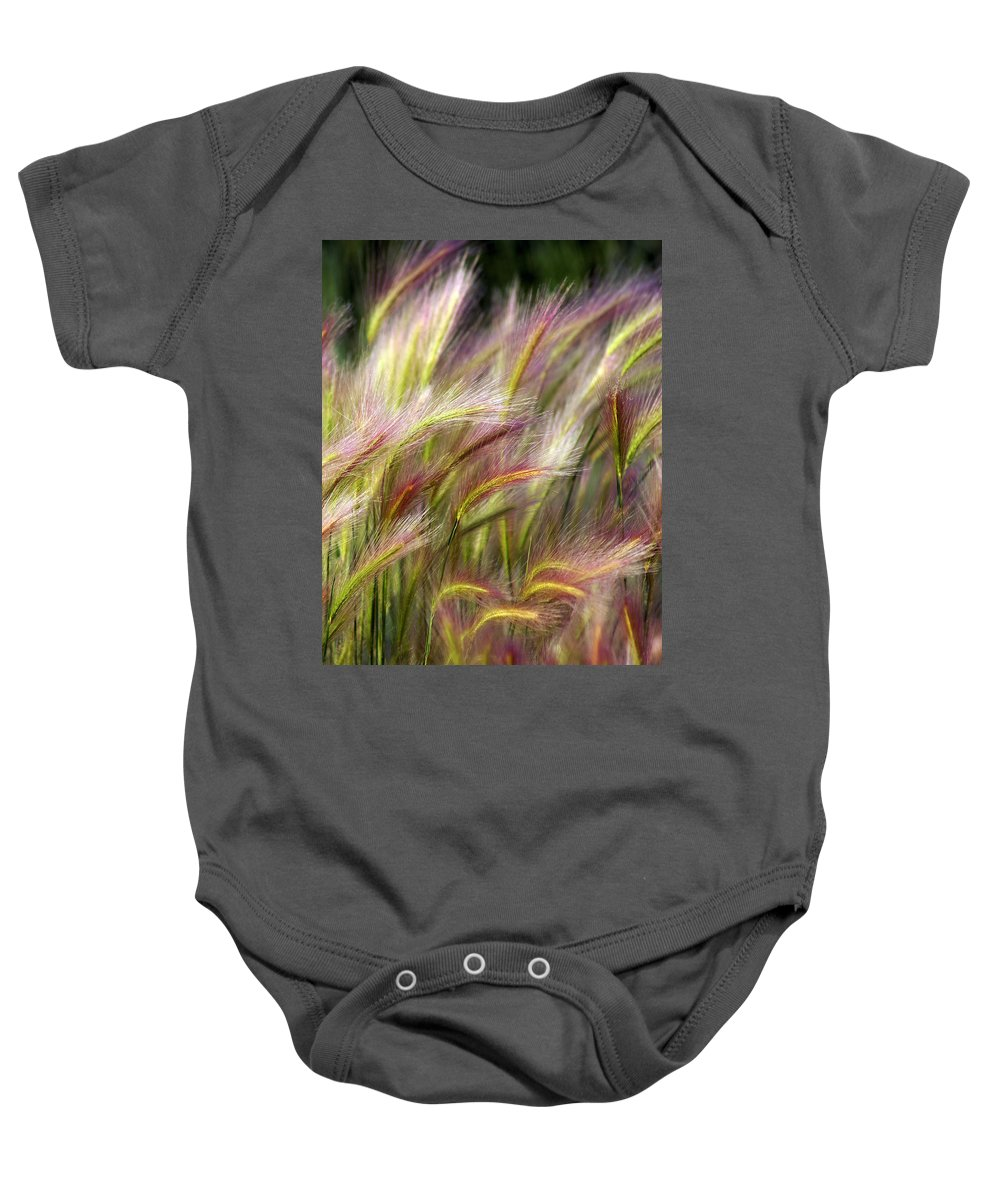 Plants Baby Onesie featuring the photograph Tall Grass by Marty Koch