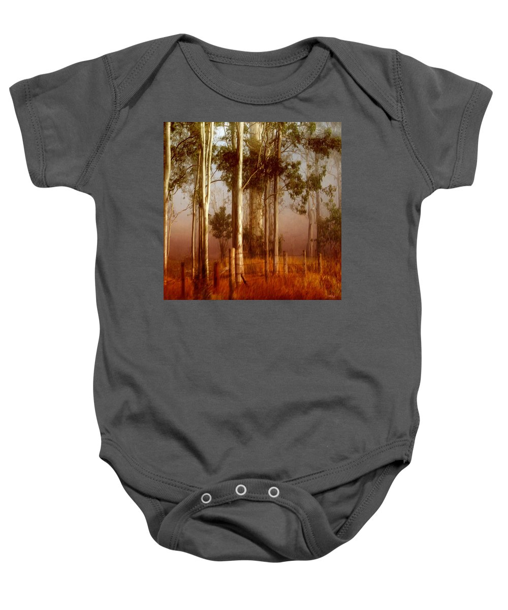 Landscape Baby Onesie featuring the photograph Tall Timbers by Holly Kempe