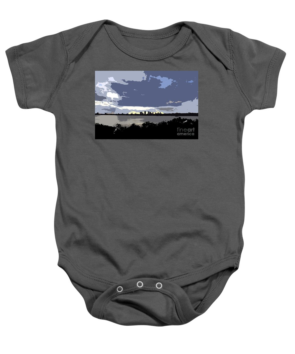 Tampa Bay Florida Baby Onesie featuring the painting Tampa Bay Work Number Three by David Lee Thompson