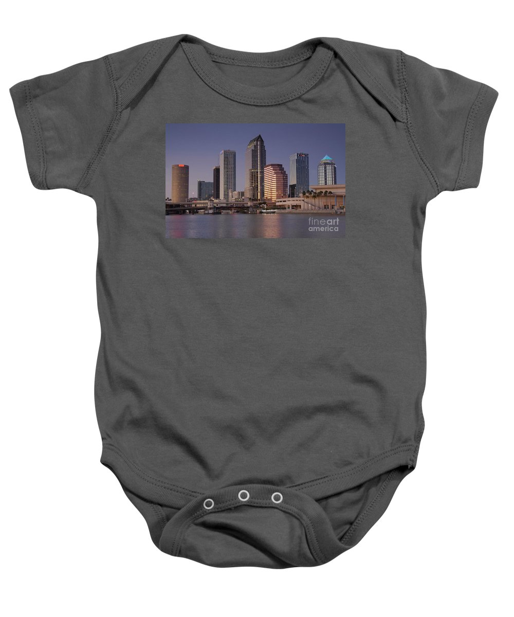 Tampa Florida Baby Onesie featuring the photograph Tampa Florida by David Lee Thompson