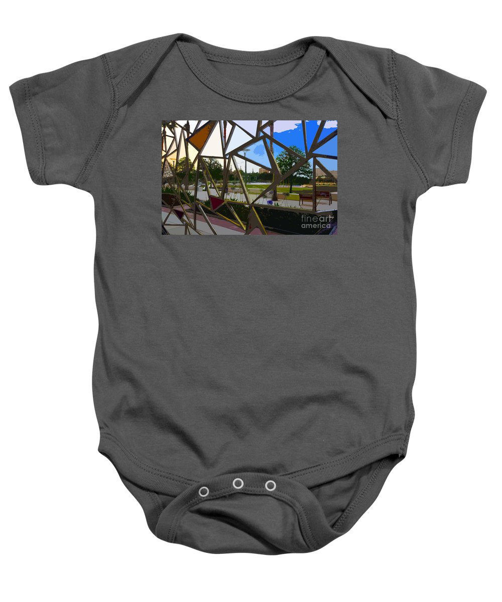 Art Baby Onesie featuring the painting Tampa Through Art by David Lee Thompson