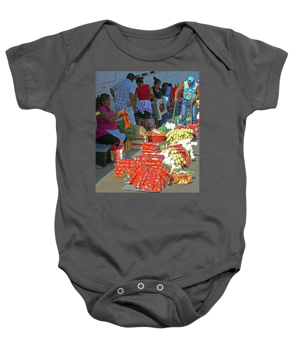 Tapachula Baby Onesie featuring the photograph Tapachula 8 by Ron Kandt
