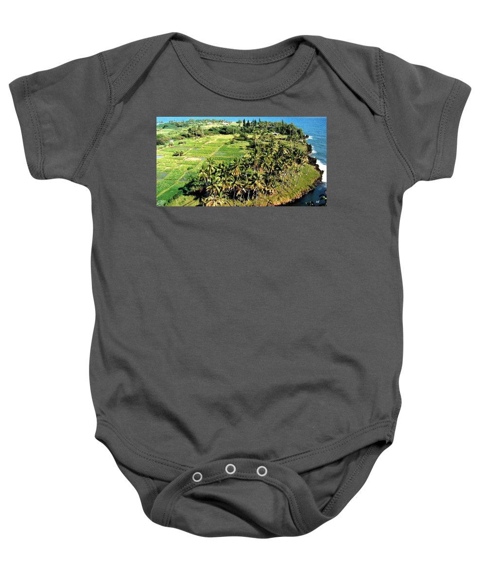 1986 Baby Onesie featuring the photograph Taro Fields by Will Borden