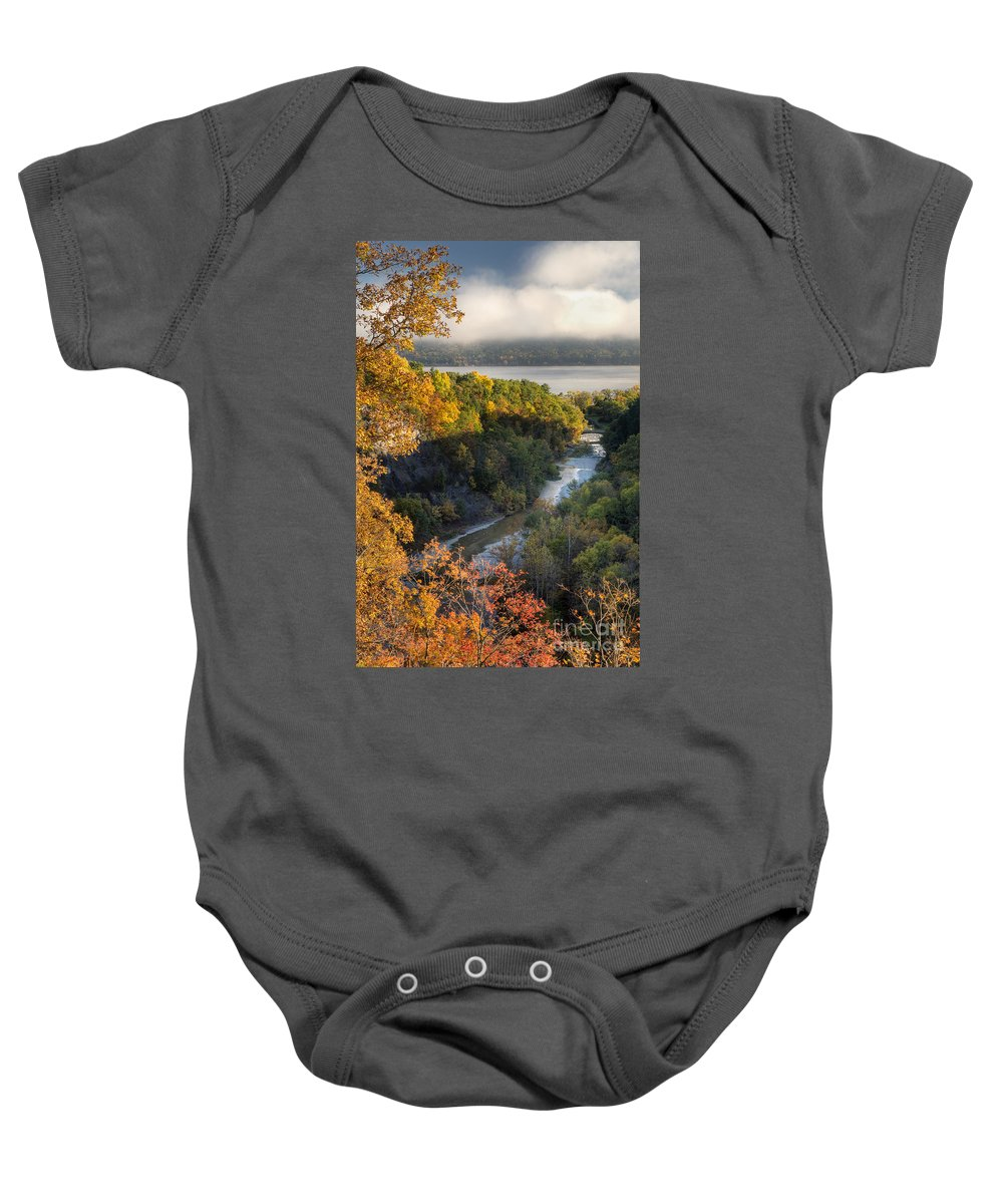 Baby Onesie featuring the photograph Taughannock Park Gorge by Michele Steffey