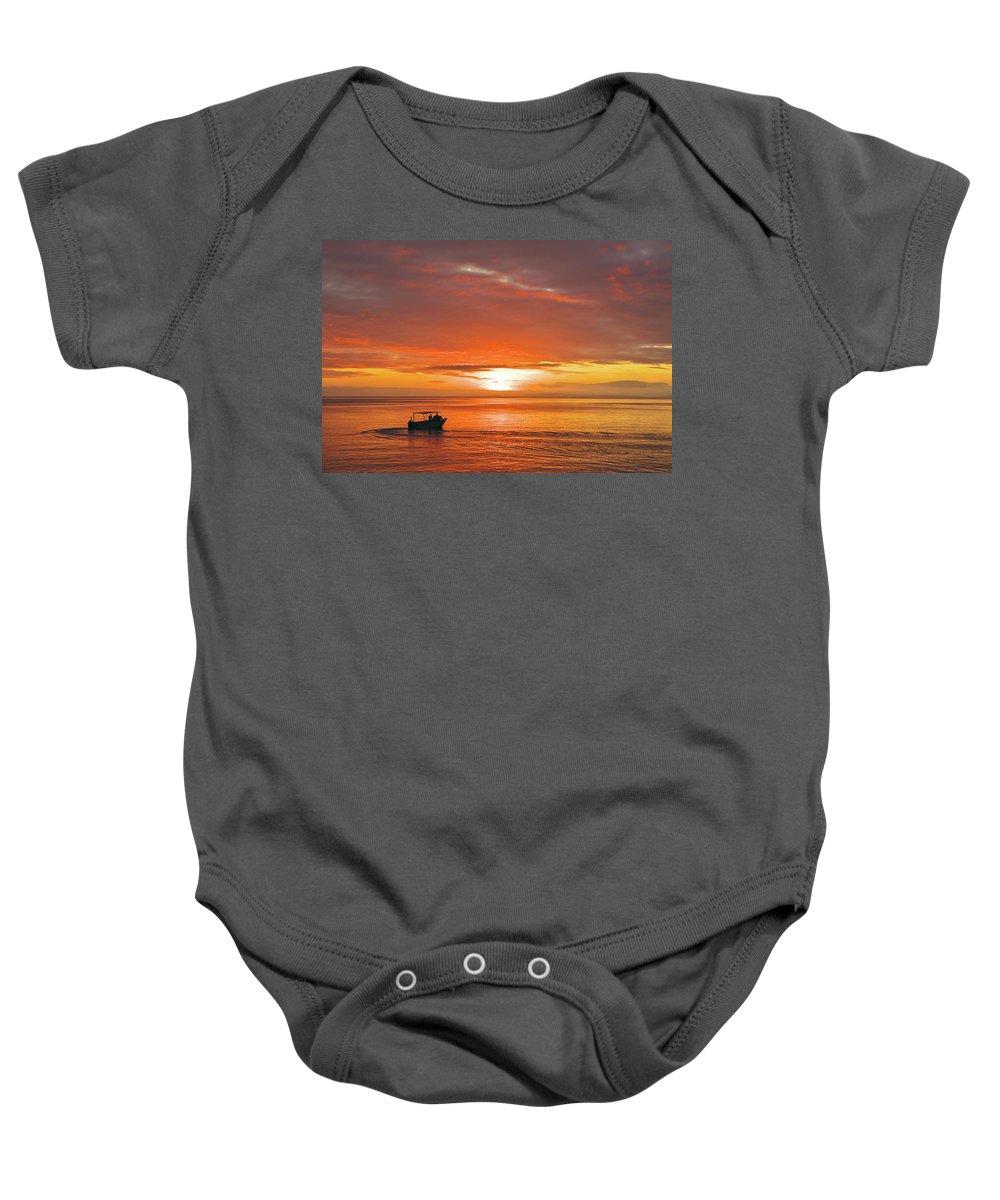 Sunset Baby Onesie featuring the photograph Taveuni Sunset by Naoki Takyo