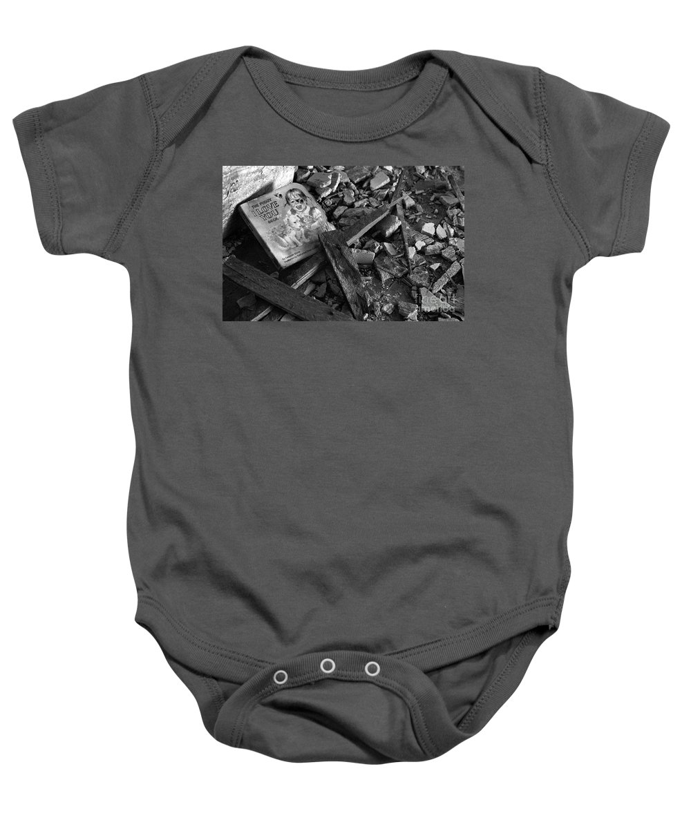 Dark Art Baby Onesie featuring the photograph Tell Me A Story by Peter Piatt