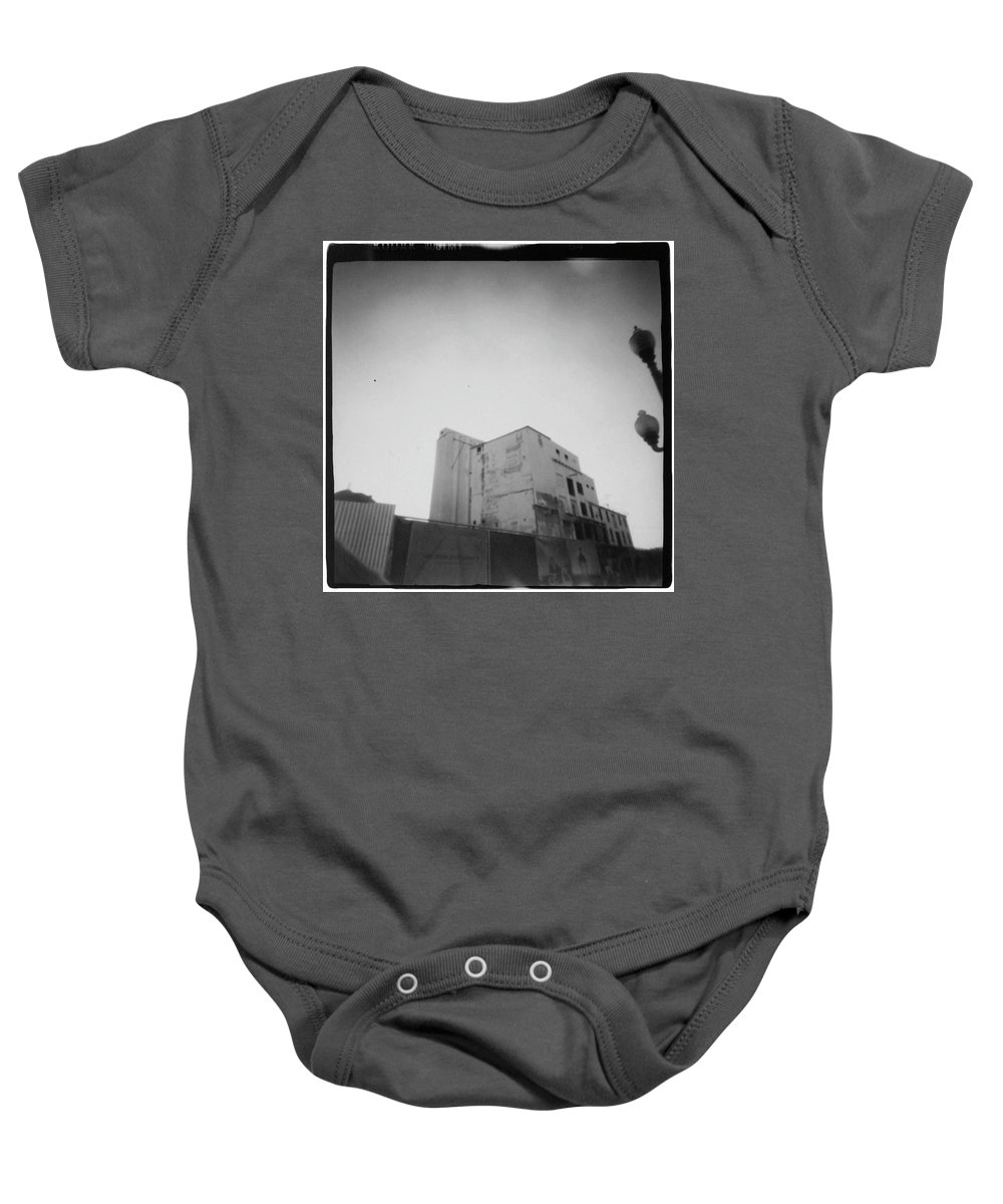 Bw Baby Onesie featuring the photograph Tempe Mill by Dana West