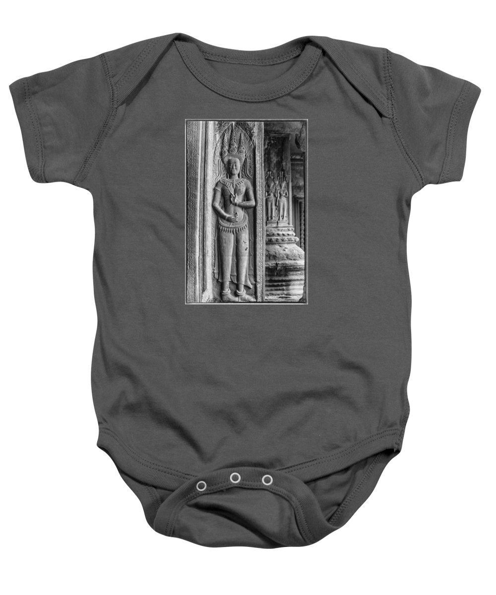 Goddesses Baby Onesie featuring the photograph Temple Guardian by Nichon Thorstrom