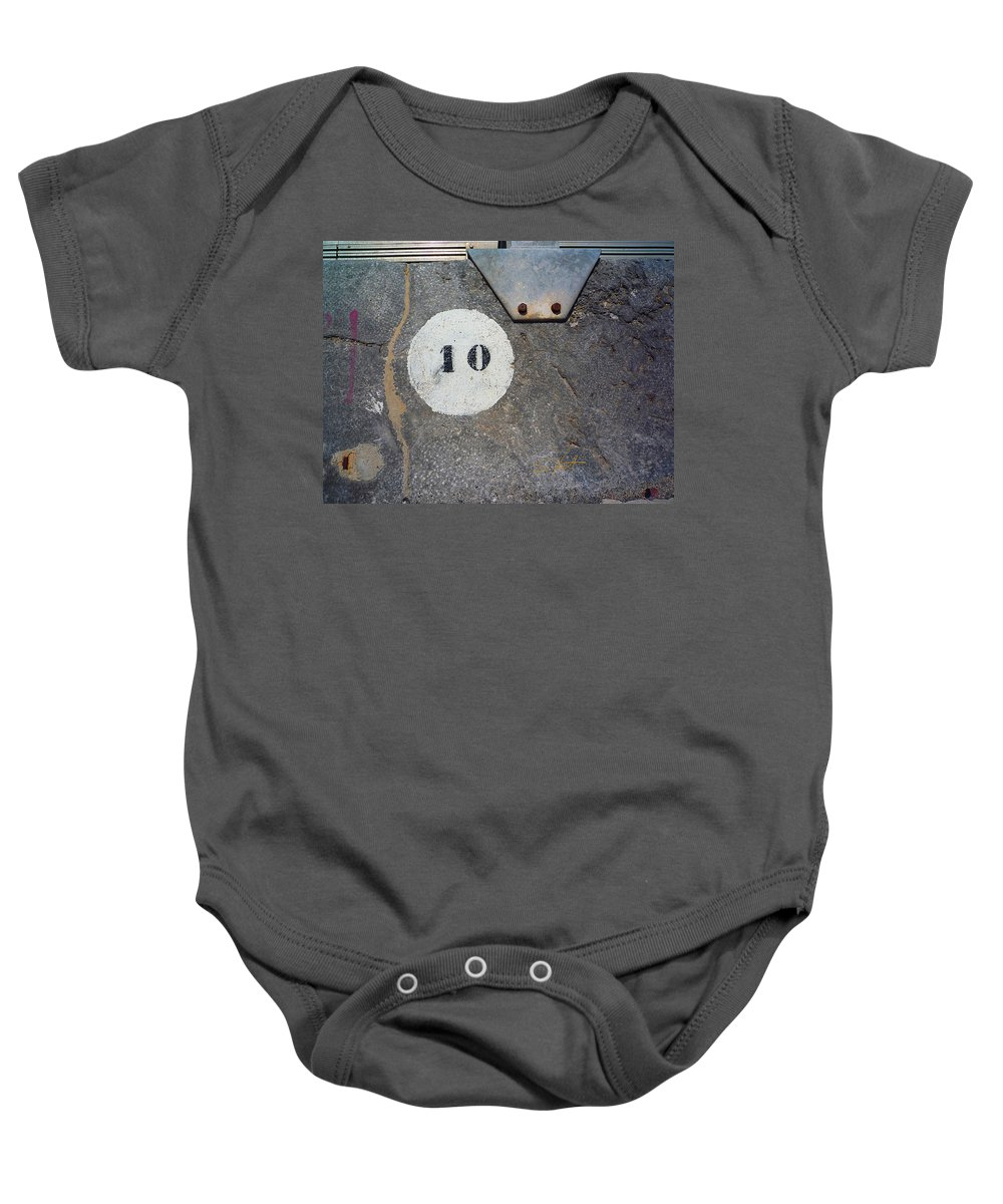 Number Baby Onesie featuring the photograph Ten by Charles Stuart