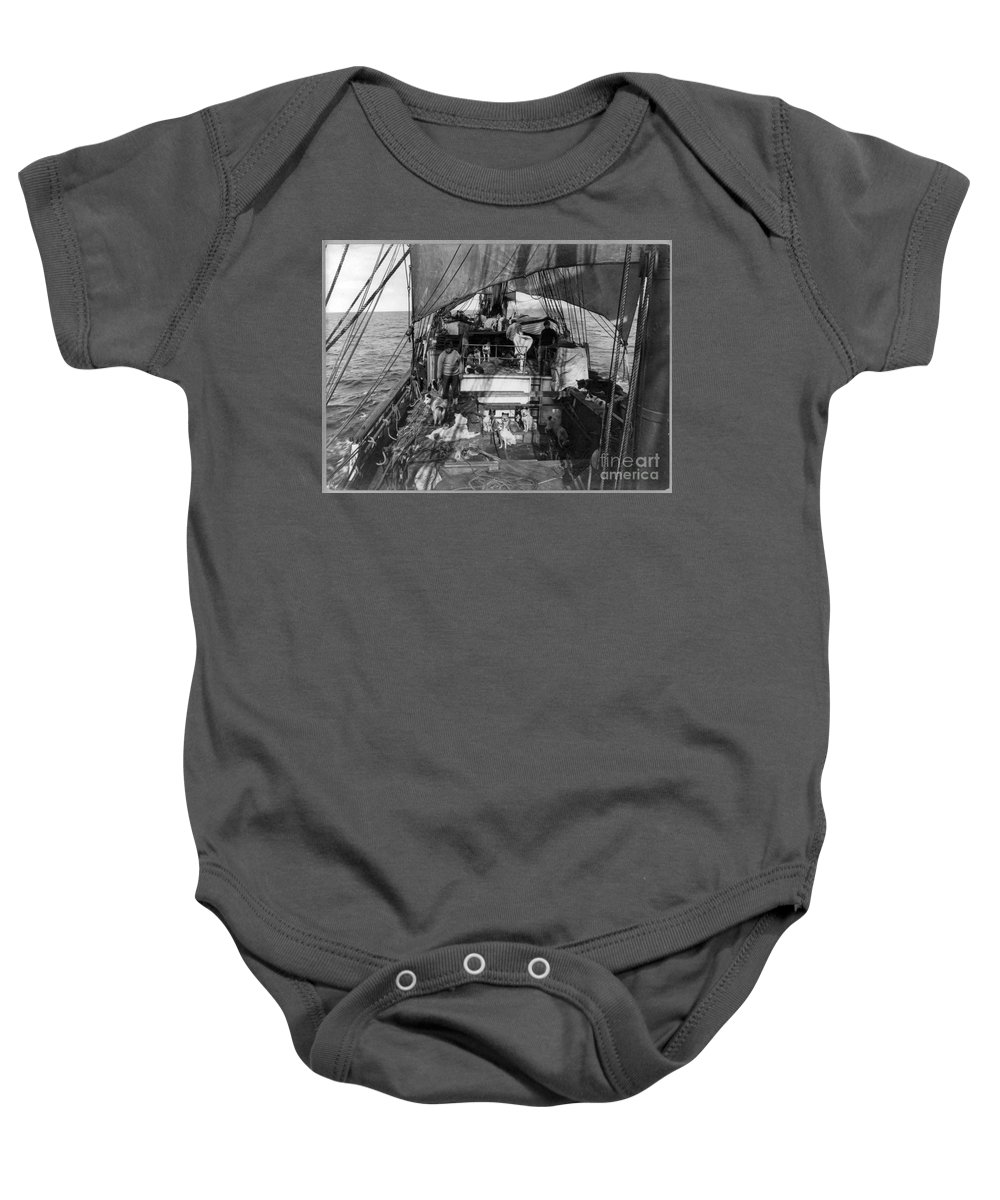 1910 Baby Onesie featuring the painting Terra Nova Expedition by Granger