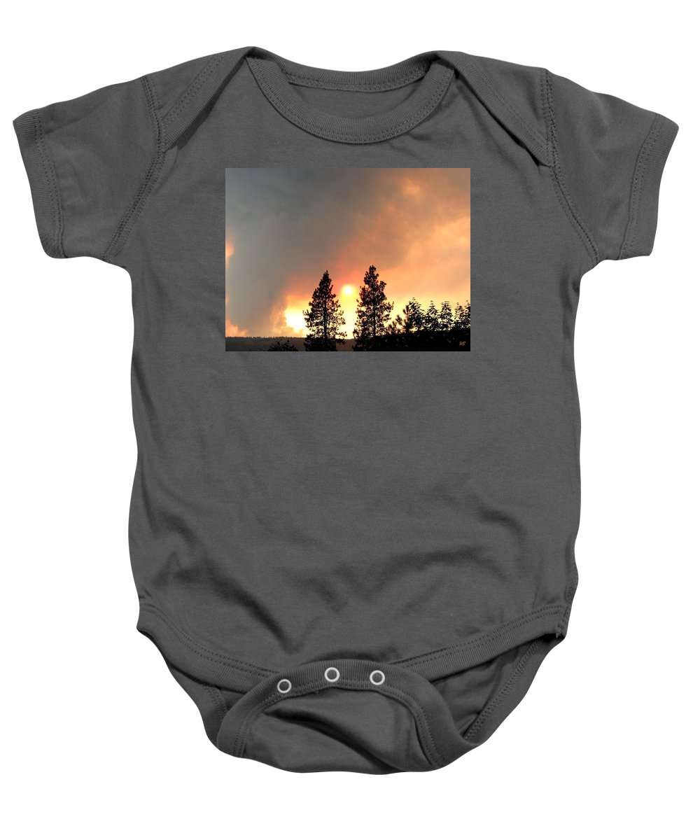 Forest Fire Baby Onesie featuring the photograph Terrace Mountain Fire 2 by Will Borden