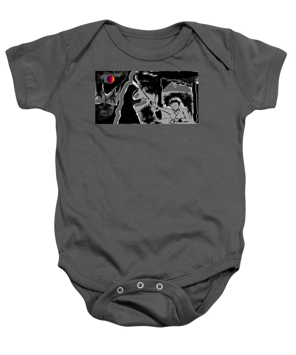 Landscape Mode Baby Onesie featuring the painting Testament by Nazim Ali
