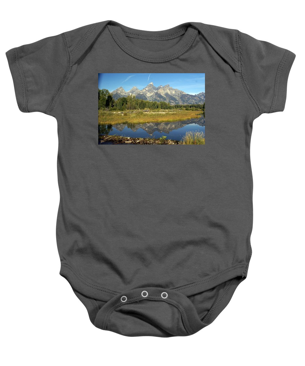 Grand Teton National Park Baby Onesie featuring the photograph Teton 5 by Marty Koch