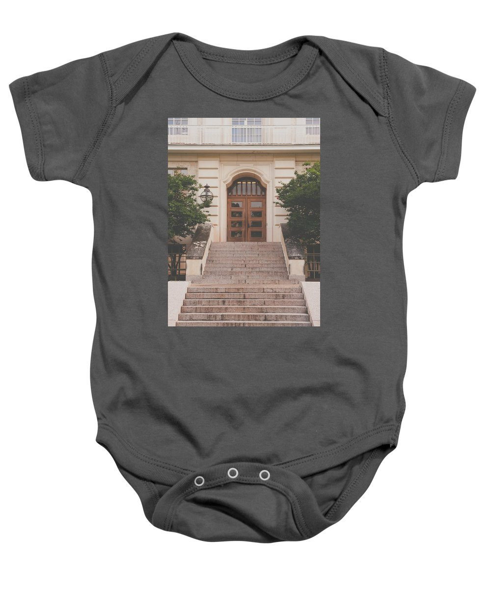 Stairs Baby Onesie featuring the photograph Texas Staircase by David Jilek
