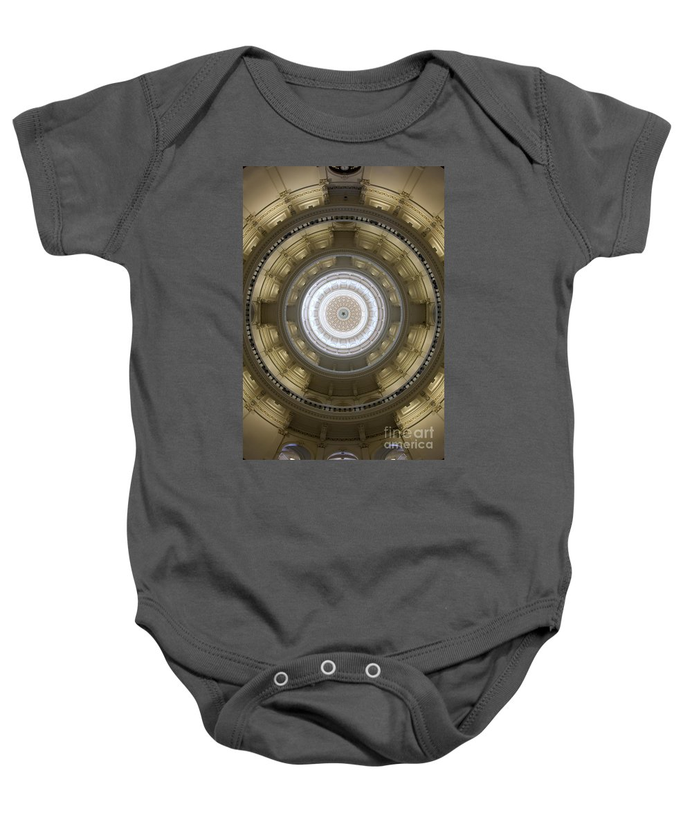 Architecture Baby Onesie featuring the photograph Texas State Capitol - Interior Dome by Anthony Totah
