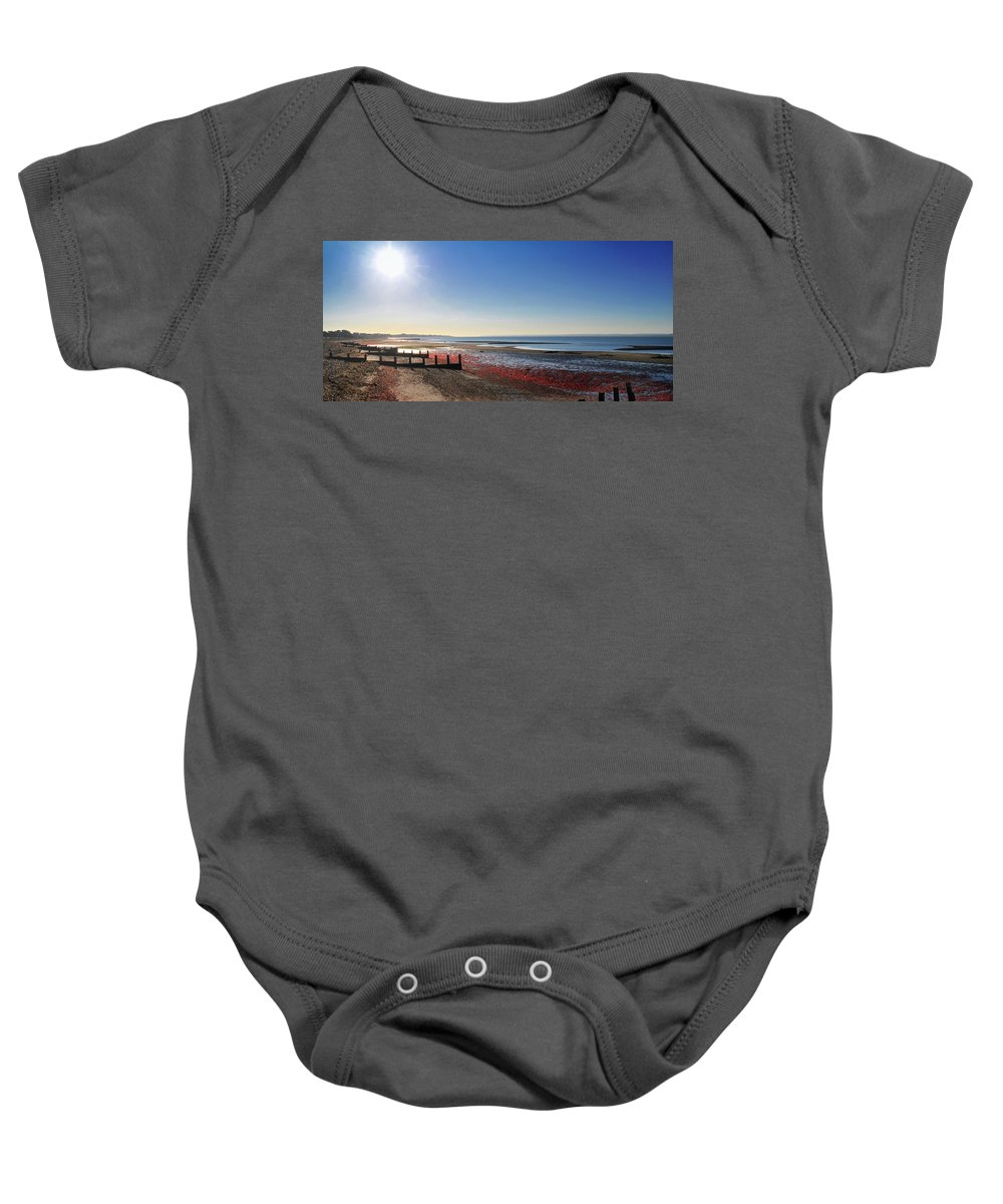 Beaches Baby Onesie featuring the photograph That Peaceful Hour by Peter Hayward Photographer
