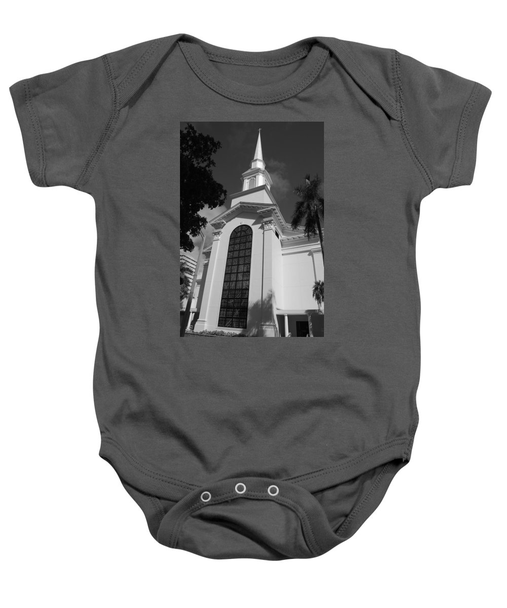 Architecture Baby Onesie featuring the photograph Thats Church by Rob Hans