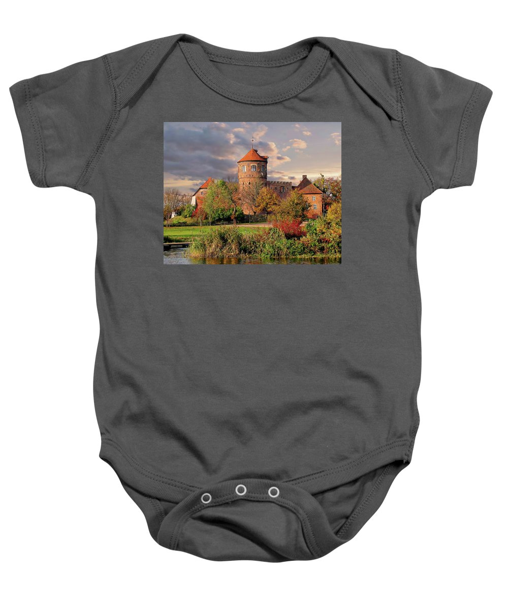 Dawn Baby Onesie featuring the photograph The Alte Burg by Anthony Dezenzio