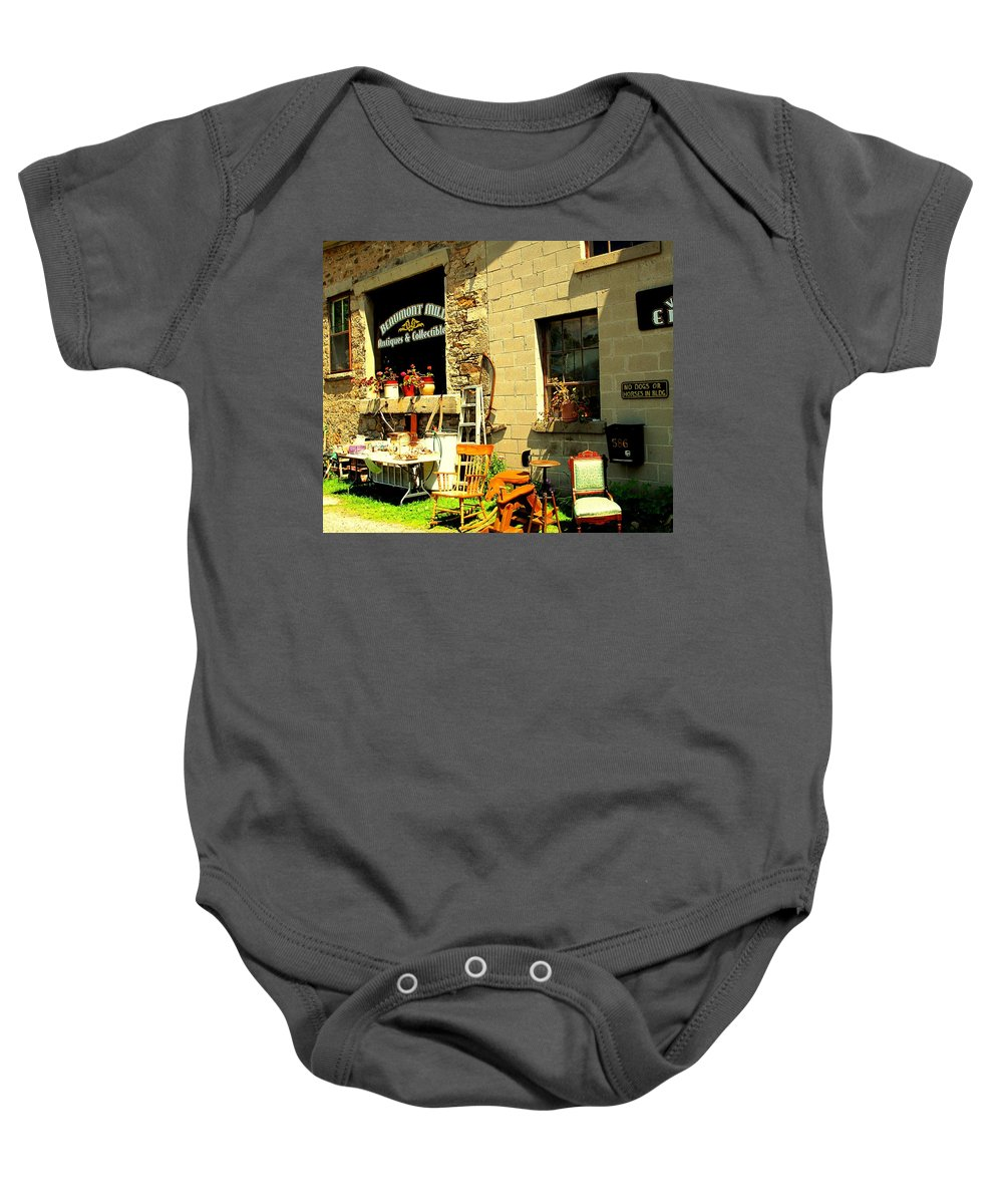Antique Baby Onesie featuring the photograph The Antique Store by Ian MacDonald
