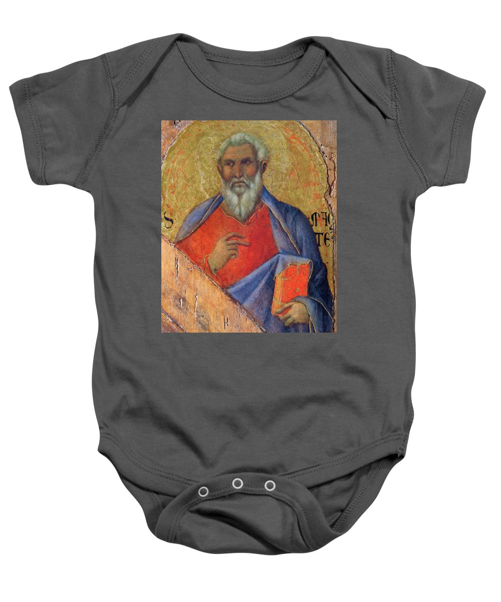 The Baby Onesie featuring the painting The Apostle Matthew 1311 by Duccio