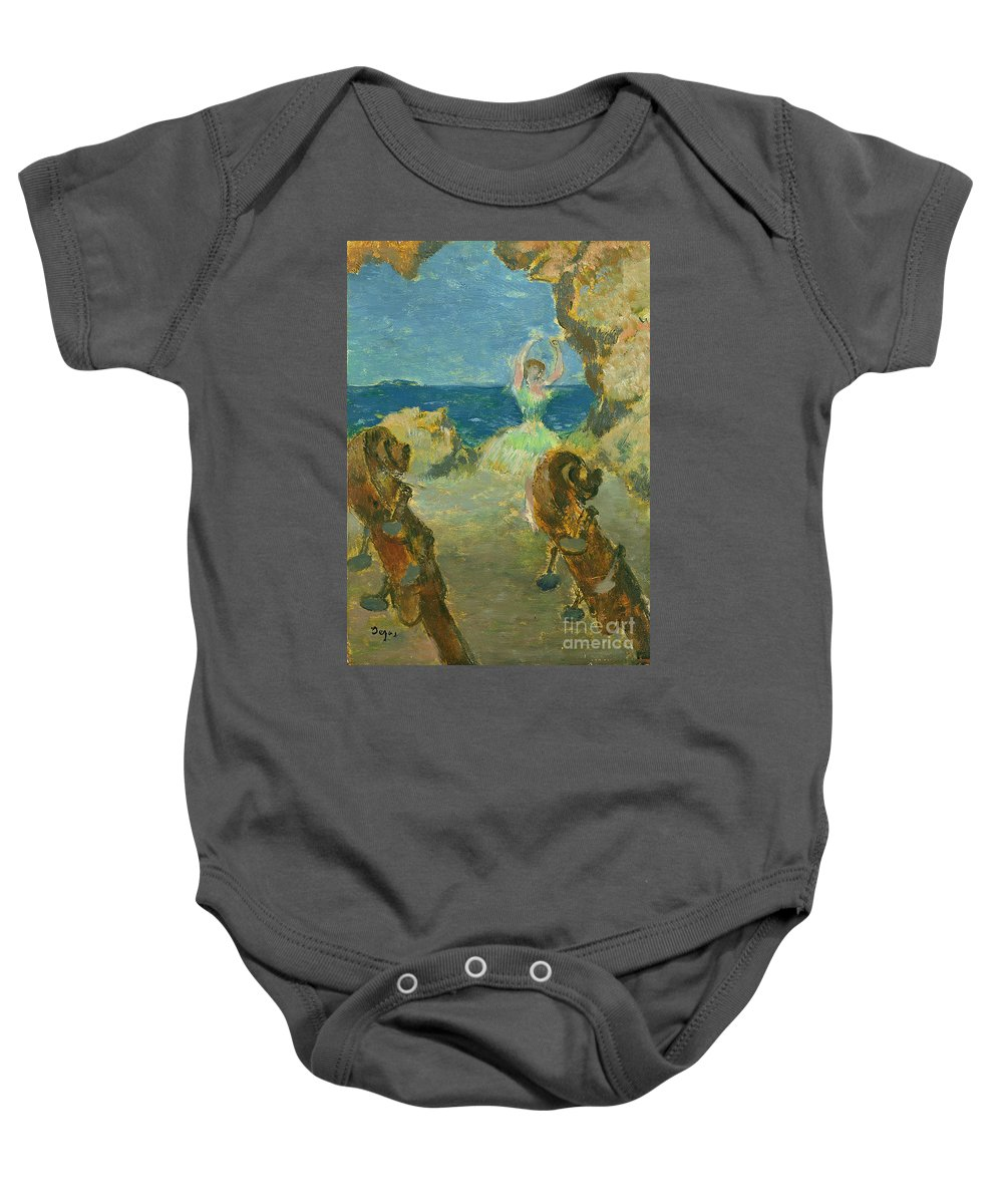 The Ballet Dancer Baby Onesie featuring the painting The Ballet Dancer by Edgar Degas