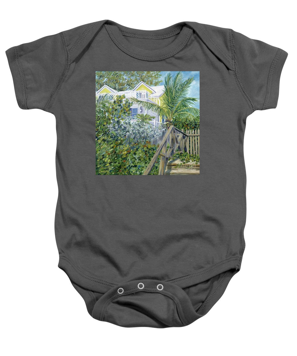 Beach House Baby Onesie featuring the painting The Beach House by Danielle Perry