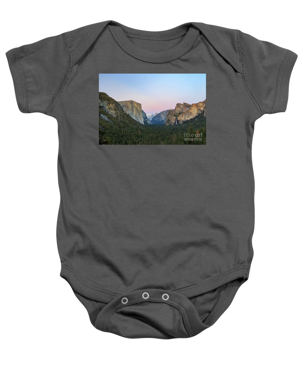 Nps Baby Onesie featuring the photograph The Beautiful Tunnel View Of Yosemite by Chon Kit Leong