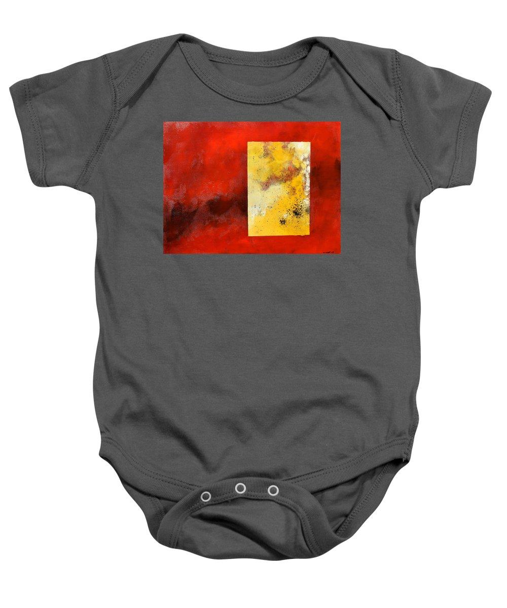 Lyrical Abstract Baby Onesie featuring the painting The Beginning Of A Shape by Eduard Meinema