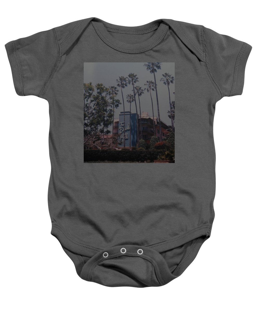 Beverly Hills Baby Onesie featuring the photograph The Beverly Hills Hotel by Rob Hans