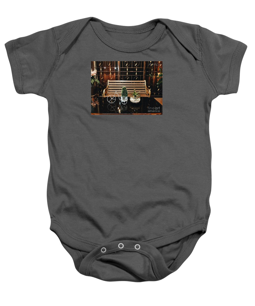 Landscape Baby Onesie featuring the photograph The Bicycle by Hazaratul Asrah