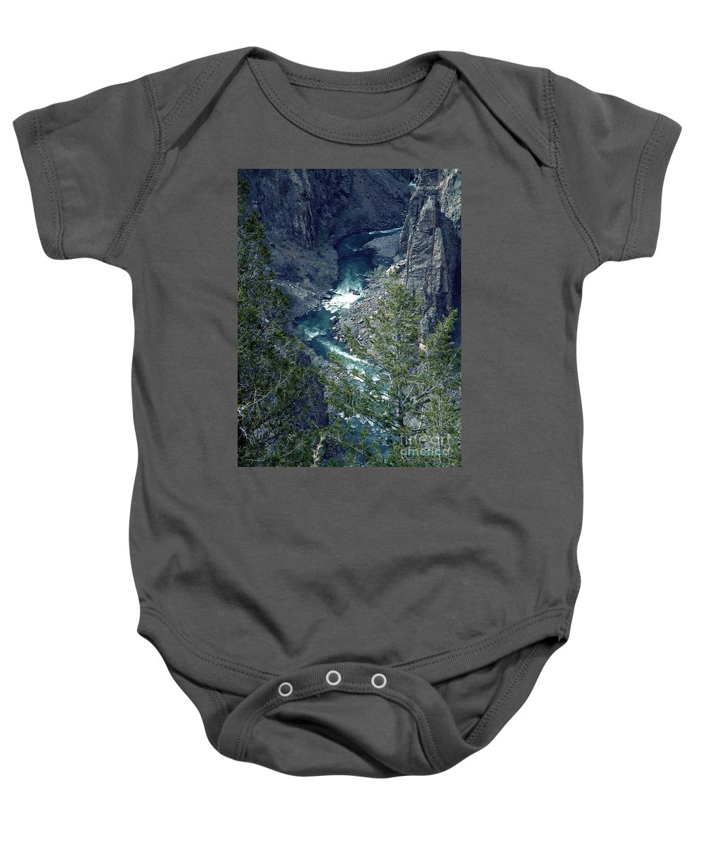 Canyon Baby Onesie featuring the painting The Black Canyon Of The Gunnison by RC DeWinter