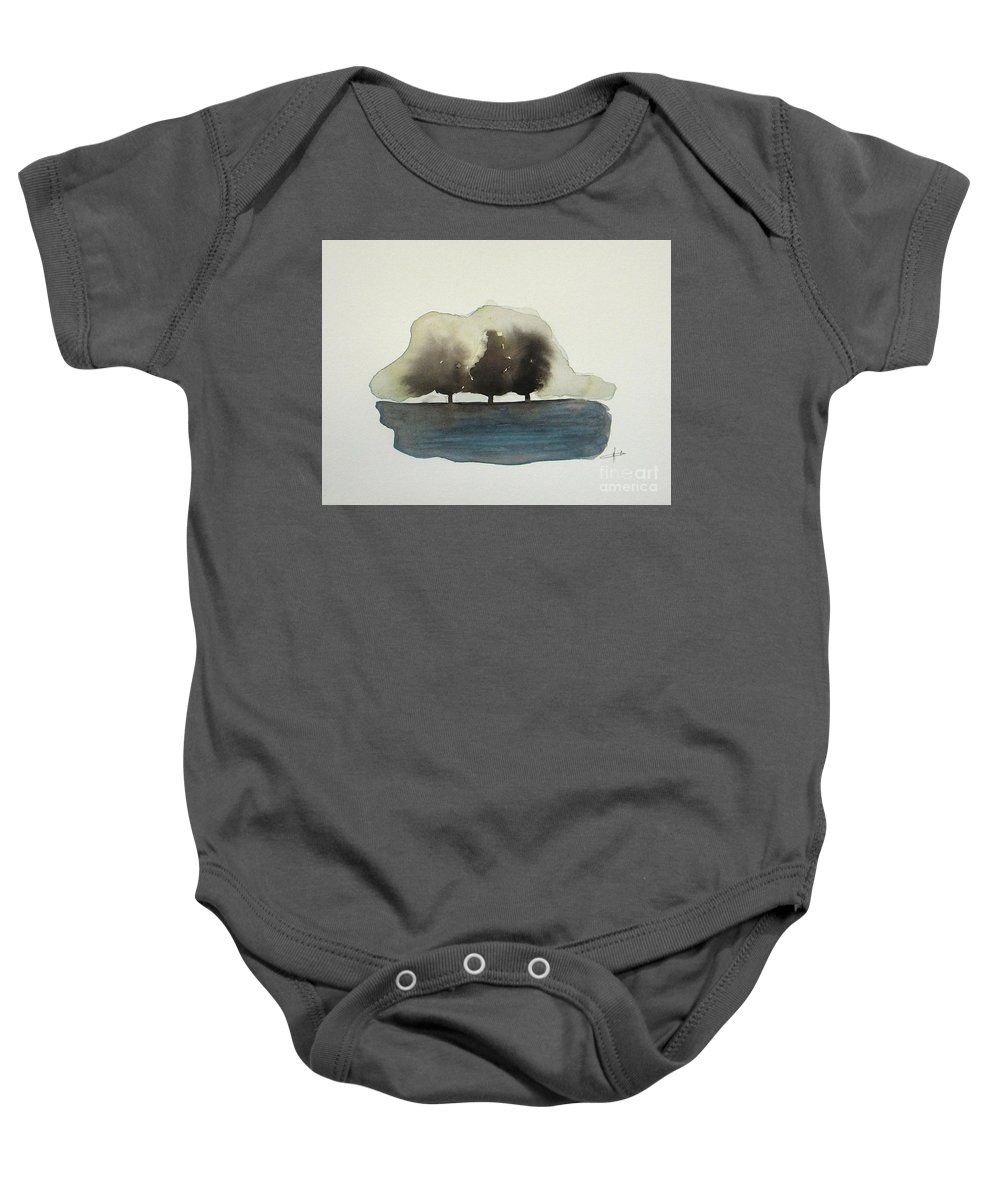 Abstract Baby Onesie featuring the painting The Breeze by Vesna Antic